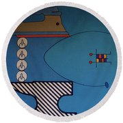 Rfb0908 Round Beach Towel
