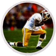 Rg3 - Tebowing Round Beach Towel by Paul Ward