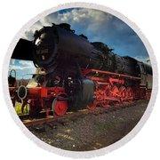 Rhineland-palatinate Locomotive Round Beach Towel