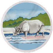 Rhino In La Round Beach Towel