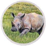 Rhinosceros Round Beach Towel