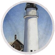 Cape Cod Light Round Beach Towel