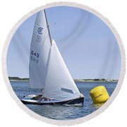 Rhodes 18 Rounding The Mark Round Beach Towel