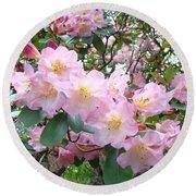 Rhododendron Flowers Garden Art Prints Floral Baslee Troutman Round Beach Towel