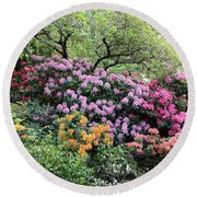 Rhododendron Hill Round Beach Towel