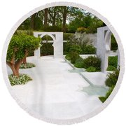 Rhs Chelsea Beauty Of Islam Garden Round Beach Towel