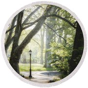 Rhythm Of The Trees Round Beach Towel