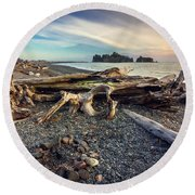 Rialto Beach Washington Round Beach Towel