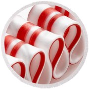 Ribbon Candy Round Beach Towel