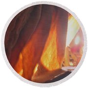 Ribbons - Cave Round Beach Towel