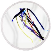 Ribbons Five Round Beach Towel
