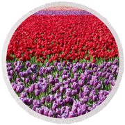 Ribbons Of Color Round Beach Towel