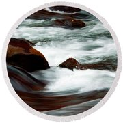 Ribbons Of Water Round Beach Towel