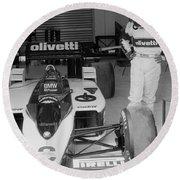 Riccardo Patrese. 1986 Spanish Grand Prix Round Beach Towel