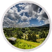 Rice Terrace Round Beach Towel