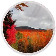 Rich Fall New Hampshire Colors Round Beach Towel