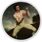 Richard Humphreys, The Boxer                                     Round Beach Towel