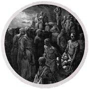 Richard I The Lionheart Massacres Captives In Reprisal 1877 Round Beach Towel