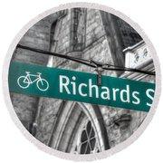Richards Street Round Beach Towel
