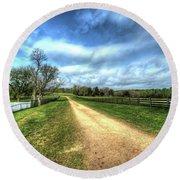 Richmond-lynchburg Stage Road, Appomattox, Virginia Round Beach Towel