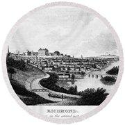 Richmond, Virginia, 1856 Round Beach Towel