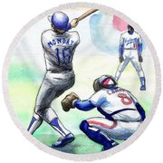 Rick Monday Round Beach Towel