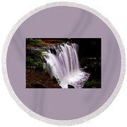 Rickett's Glen State Park Round Beach Towel
