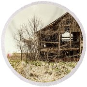 Rickety Shack Round Beach Towel