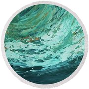 Ride The Wave Round Beach Towel