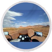 Ride To Little Wild Horse Slot Canyon Round Beach Towel