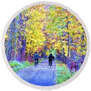 Riders On The Vine Round Beach Towel
