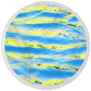 Riding A Wave Round Beach Towel