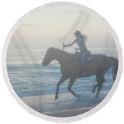 Riding Free Round Beach Towel