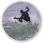 Riding The Crest Round Beach Towel
