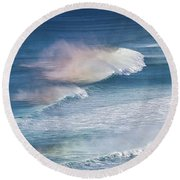 Riding The Waves Round Beach Towel