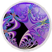 Right Of The Cloud Round Beach Towel