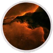 Right - Triptych - Stellar Spire In The Eagle Nebula Round Beach Towel
