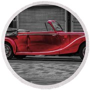 Riley Rmd 1950 Drophead Coupe Round Beach Towel