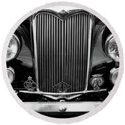 Riley Saloon Car - Vintage Round Beach Towel