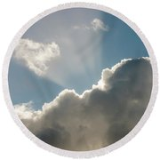 Rim-lit Cloud Round Beach Towel