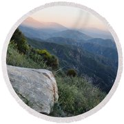 Rim O' The World National Scenic Byway Round Beach Towel