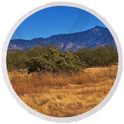 Rincon Peak, Tucson, Arizona Round Beach Towel