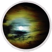 Ring Around The Moon Round Beach Towel