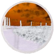 Ring Of Brodgar, Orkney Round Beach Towel