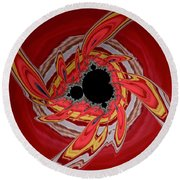 Ring Of Feathers - Abstract Round Beach Towel