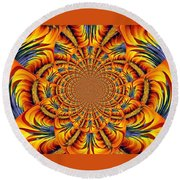 Ring Of Fire Round Beach Towel