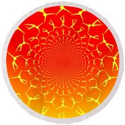 Ring Of Fire Dancers Round Beach Towel