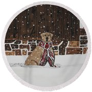 Ring The Dinner Bell Round Beach Towel