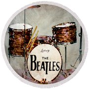 Ringo's Drums Round Beach Towel