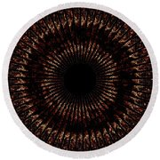 Rings Of Fire Round Beach Towel